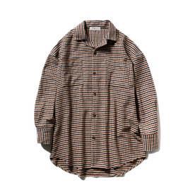 【GELATO PIQUE HOMME】ネルシャツ (BEG)