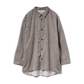 【GELATO PIQUE HOMME】ドッキングシャツ (BRW)