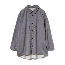 【GELATO PIQUE HOMME】ドッキングシャツ (CGRY)