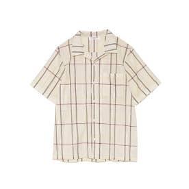 【GELATO PIQUE HOMME】マドラスチェックシャツ (BEG)