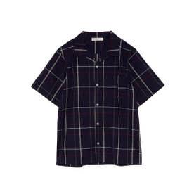 【GELATO PIQUE HOMME】マドラスチェックシャツ (NVY)