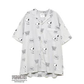 【PEANUTS】HOMME シャツ (GRY)