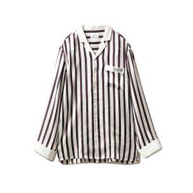【Joel Robuchon & gelato pique】HOMME ストライプサテンシャツ (TRICOL)