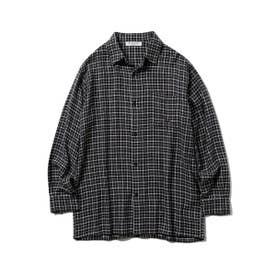 【GELATO PIQUE HOMME】ネルチェックシャツ (CGRY)