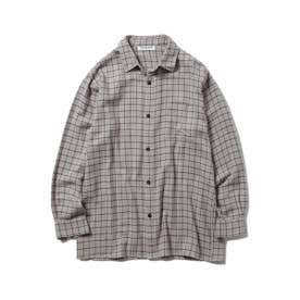 【GELATO PIQUE HOMME】ネルチェックシャツ (GRY)