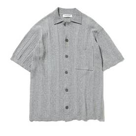 【GELATO PIQUE HOMME】リブメランジモコシャツ (GRY)