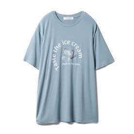 【GELATO PIQUE HOMME】レーヨンロゴTシャツ (BLU)