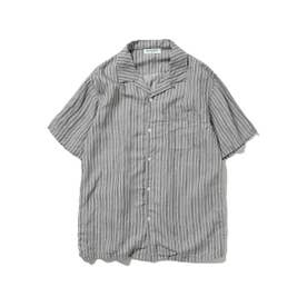 【GELATO PIQUE HOMME】リネンミックスストライプシャツ (CGRY)