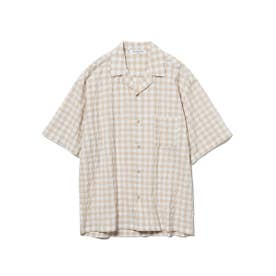 【GELATO PIQUE HOMME】オーガニックコットンギンガムチェックシャツ (YEL)