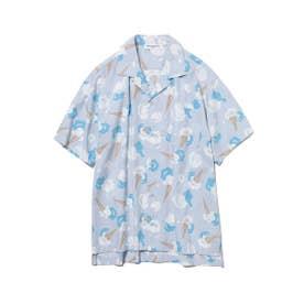 【GELATO PIQUE HOMME】アイスモチーフシャツ (BLU)