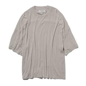 【GELATO PIQUE HOMME】レーヨンシルクTシャツ (BEG)