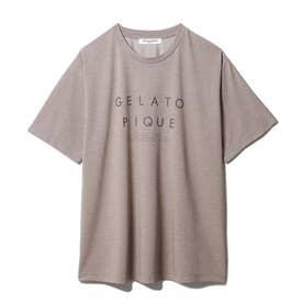 【GELATO PIQUE HOMME】 冷感ロゴTシャツ (BRW)