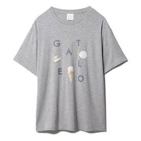 【GELATO PIQUE HOMME】 アイスロゴワンポイントTシャツ (GRY)