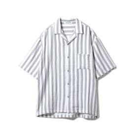 【GELATO PIQUE HOMME】 オーガニックコットンストライプシャツ (CGRY)