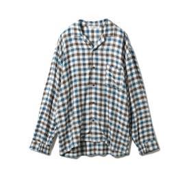 【GELATO PIQUE HOMME】 レーヨンネルガンクラブチェックシャツ (OWHT)