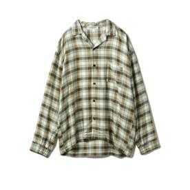 【GELATO PIQUE HOMME】 レーヨンネルガンクラブチェックシャツ (OLV)