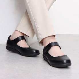 走れるパンプス 軽量 快適 オフィスシューズ 歩きやすい 疲れにくい 靴 クッション性 3D 中敷き 衝撃吸収 フォーマル (ブラック)