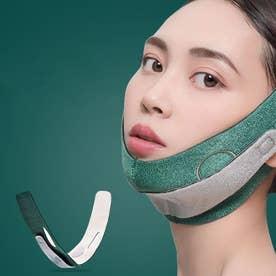 小顔矯正 ほうれい線 小顔コルセット リフトアップベルト 男女兼用 通気性 SVHC認定 (グリーン)