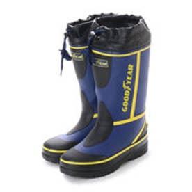 積寒地仕様 ドローコード付き(巾着付き)キッズ レインブーツ  防寒 防水 防滑 長靴 17082 (NAVY)