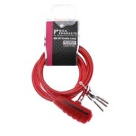 キー WL147 ケーブルロック 6x1800mm コイルケーブル RED LKW17103   レッド (レッド)