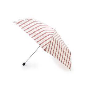 Wpc.ストライプスリム折り畳み傘 (オフホワイト)