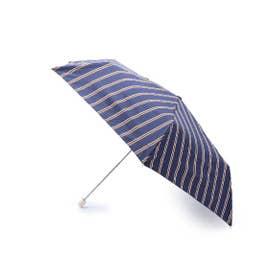 Wpc.ストライプスリム折り畳み傘 (ネイビー)
