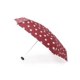because ポルカドット柄晴雨兼用折り畳み傘 (レッド(062))