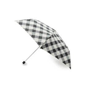 Wpc.バイアスチェックスリム折り畳み傘 (ブラック)