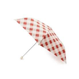 Wpc.バイアスチェックスリム折り畳み傘 (レッド)