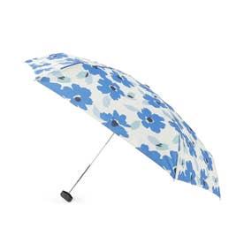 because フラワーミニ折りたたみ傘(晴雨兼用) (ブルー)