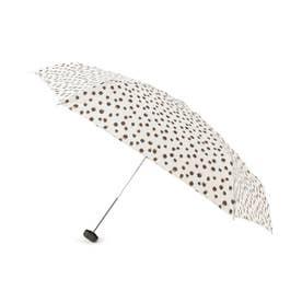 because レオパード折りたたみ傘(晴雨兼用) (アイボリー)