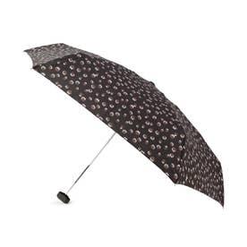 because レオパード折りたたみ傘(晴雨兼用) (ブラック)