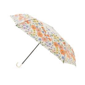 because フラワーブルーム折りたたみ傘(晴雨兼用) (アイボリー)
