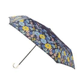because フラワーブルーム折りたたみ傘(晴雨兼用) (ネイビー)