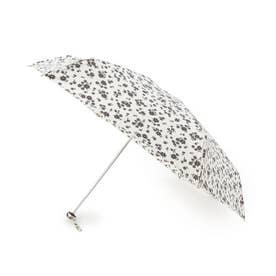 becauseフラワーシルエットミニ折りたたみ傘(晴雨兼用) (アイボリー)