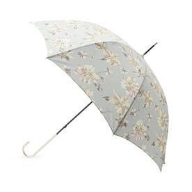 フローラル長傘(晴雨兼用) (カーキ&グリーン)