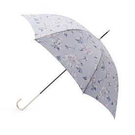 フローラル長傘(晴雨兼用) (サックス)