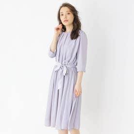 ギャザードレープドレス (ライトグレー)