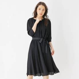 ギャザードレープドレス (ブラック)