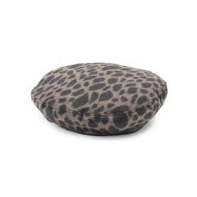 レオパードベレー帽 (ブラウン)