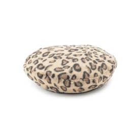 レオパードベレー帽 (ベージュ(752))