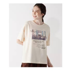 転写プリントTシャツ (アイボリー)