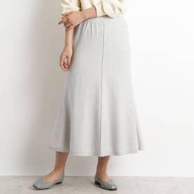 【S-LL】洗える/抗菌マーメイド風ニットスカート (ライトグレー)