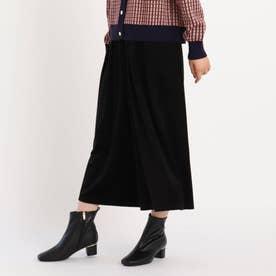 【S-3L】とろりんコーデュロイスカートパンツ (ブラック)