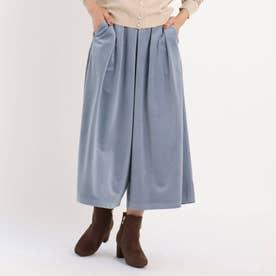 【S-3L】とろりんコーデュロイスカートパンツ (ブルー)
