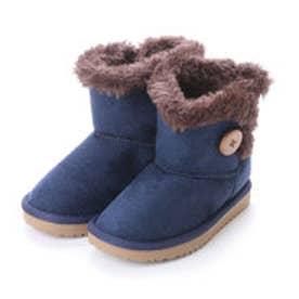 サイドボタン付き 子供用ブーツ R45751-69 ムートン調素材