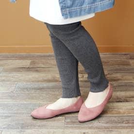 【軽量】柔らか素材のVカットフラットパンプス (ピンク)