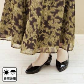 【日本製・晴雨兼用】ポインテッドパンプス (ブラック)