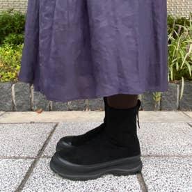 スニーカーソールストレッチブーツ (ブラック)