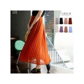 繊細なプリーツが上品な揺れ感を演出ジョーゼットプリーツスカート サーモンピンク